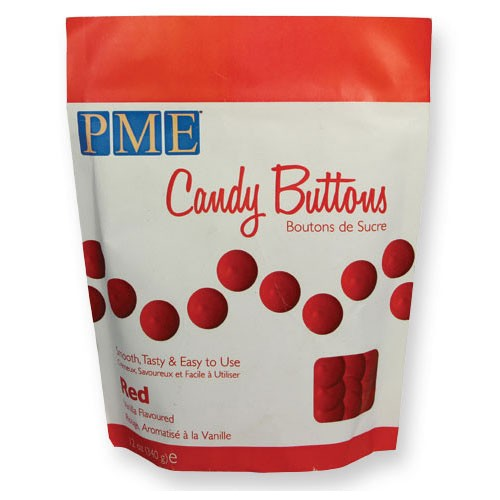 Candy Buttons red