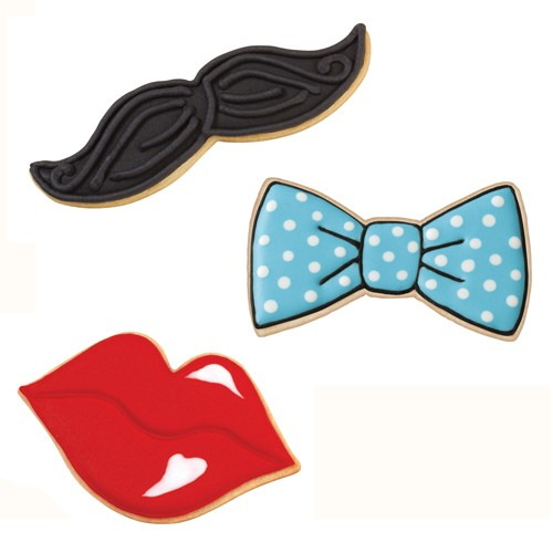 Cookie Cutter Set Tie/Mustache/Lips