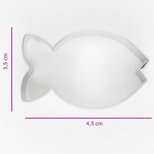 Cookie cutter fish 4.5cm