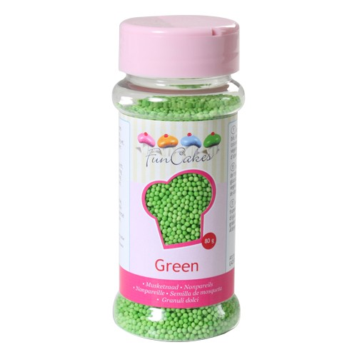 Nonpareils  Sugar green