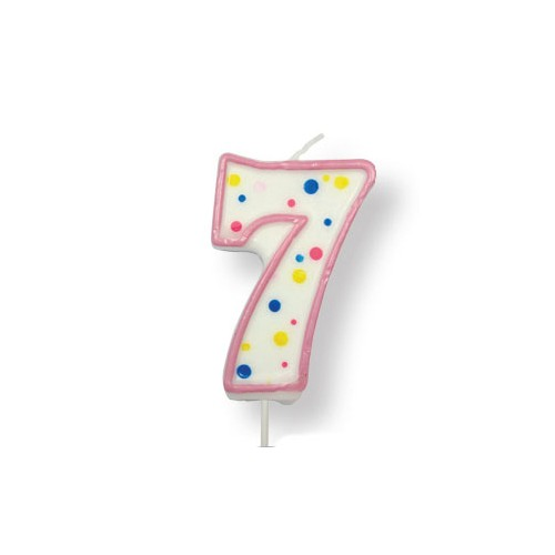 Number candle pink
