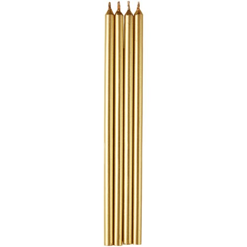 Birthday Candles Tall Gold pcs/12