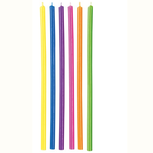 Candles Long Multicolor pk/12