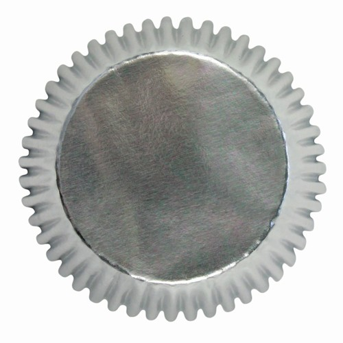 Mini baking cups silver