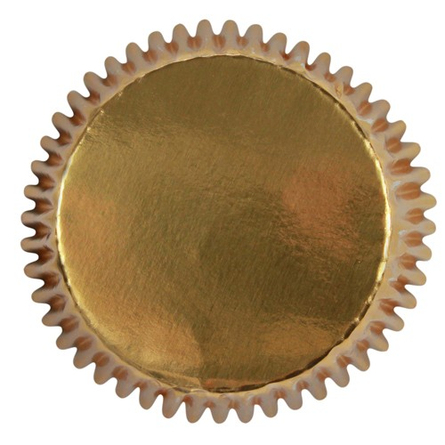Mini baking cups gold