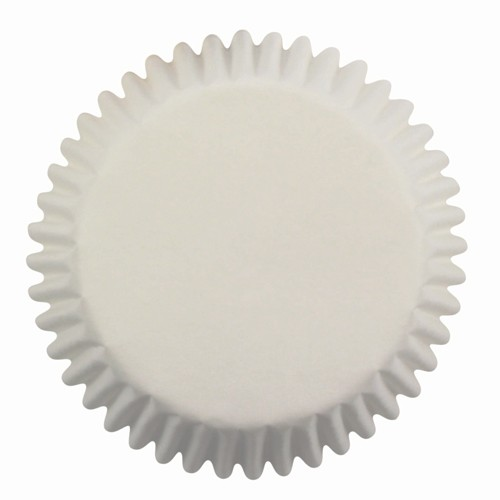Mini baking cups white