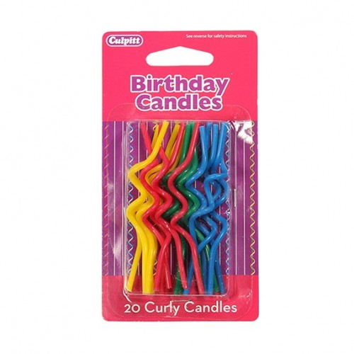Rainbow Curly Candles