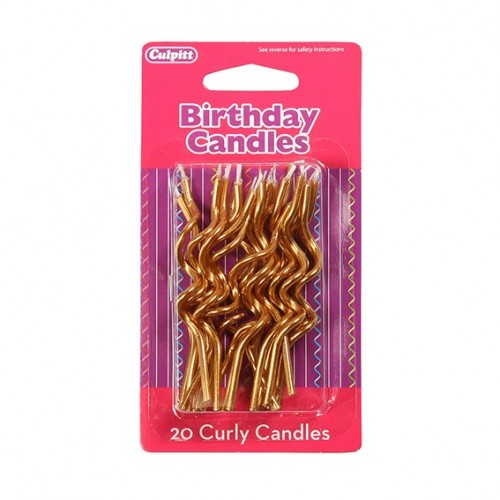 Gold Curly Candles