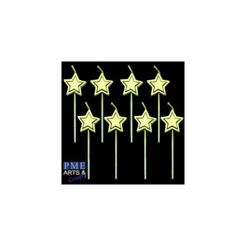 Candles Gold Stars pcs/8