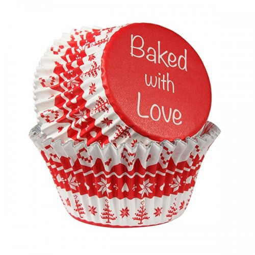 Caissettes Baked with Love red