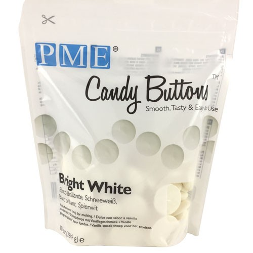 Candy Buttons ultra blanc