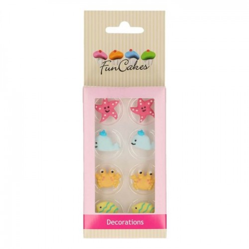 SUGAR DECORATIONS SEA LIFE SET/8