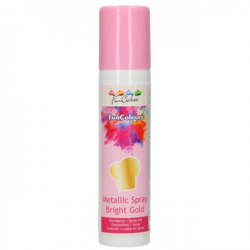 Spray gold alimentaire