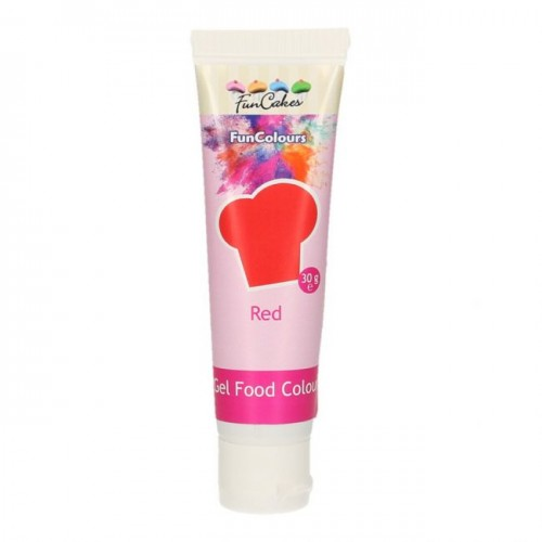 EDIBLE FUNCOLOURS GEL - red