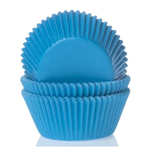 Baking cups cyan blue
