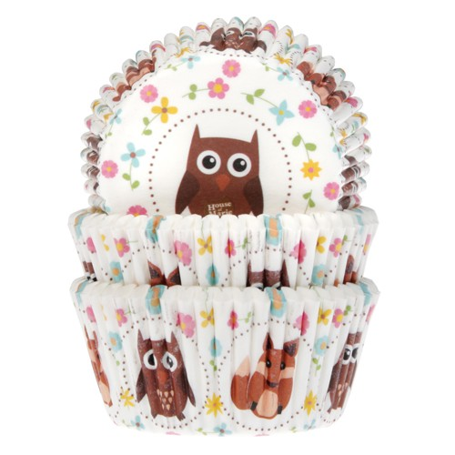 Baking cups owl