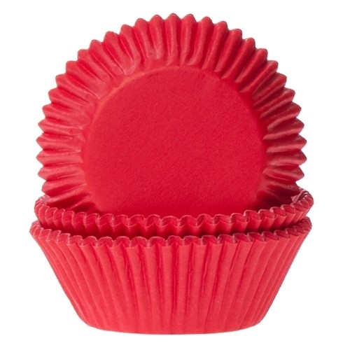 Baking cups red