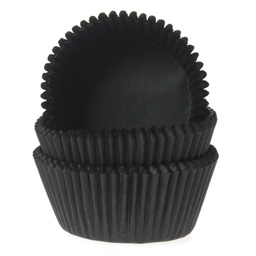 Mini baking cups black