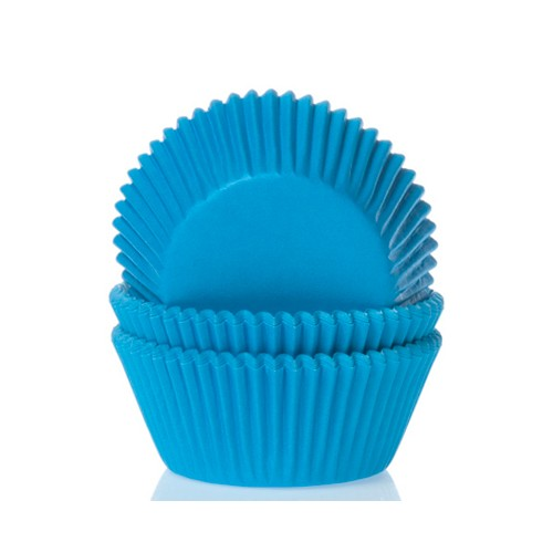 Mini baking cups cyan blue