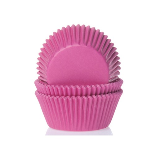 Mini baking cups dark pink