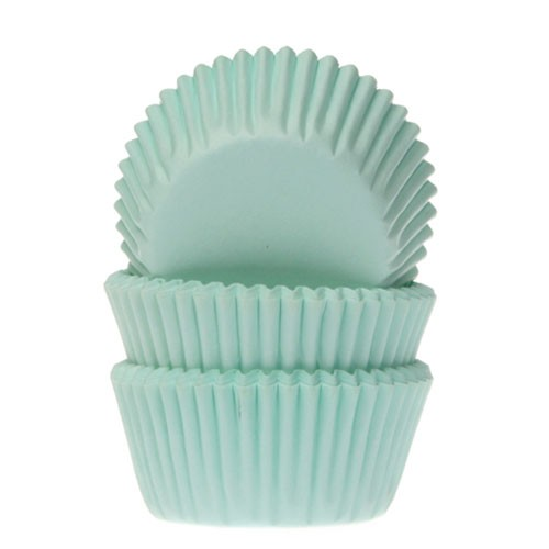 Mini baking cups mint