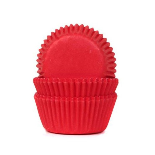 Mini baking cups red